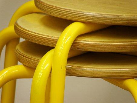 Chair, Stool, School, Composite