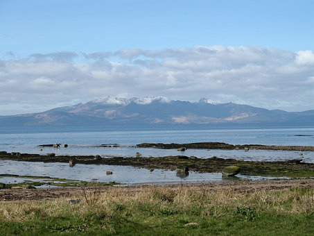Seamill, Scotland, Arran, Clyde, Island, Sea, Mountain