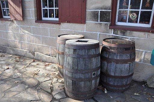 Barrels, Old Salem, Settlement, Village, Wooden