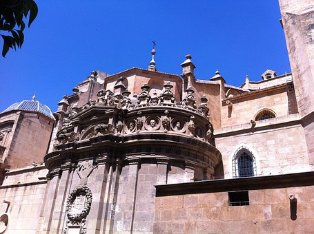 Murcia, Murcia Cathedral, Side View, Architecture
