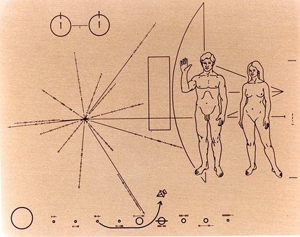 Pioneer Badge, Pioneer 10, Space Probe, Nasa