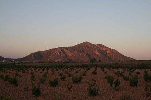 Algueña, Alicante, Mountain, Spain, Murcia, Sunset