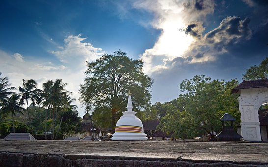 Buddhist Temple, Temple, Shrine, Sri Lanka, Ceylon