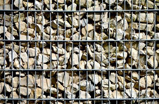 Gabionen Wall, Stone Wall, Grid Wall