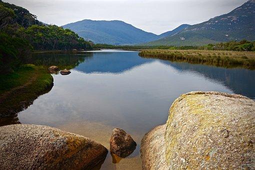 Tidal River, Wilsons Promontory, Stream, Scenery