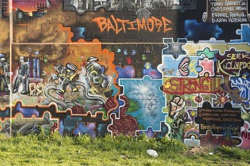 Mural, Baltimore, Street, Unique, Urban, Visual