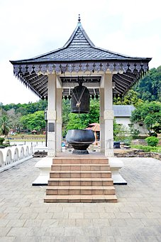 Temple, Bell, Sound, Big Bell, Giant Bell, Wood, Roof