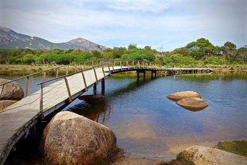 Bridge, Tidal River, Wilsons Promontory, River, Scenery