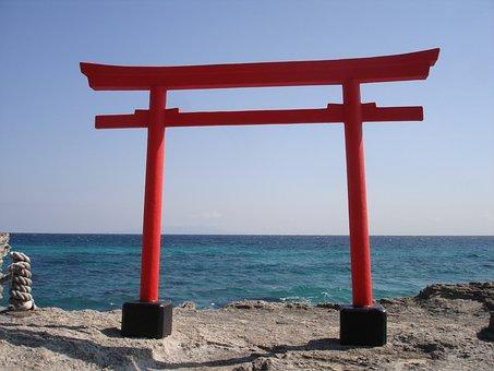 Torii Gate, Japan, Sea, Spirituality, Traditional