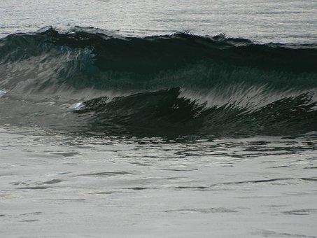 Waves, Water, Ocea, Sea, Tides, Grey, Gray, Close Up