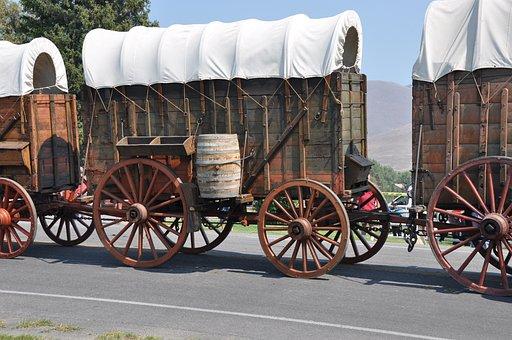 Wagon, Wheel, Rusty, Transportation, Transport, Wooden