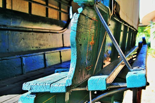 Ox Wagon, Wagon, Ox, Wood, Green, Painted, Cover
