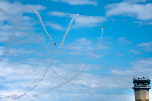 Airshow, Military, Formation, Tower, Aviation, Plane