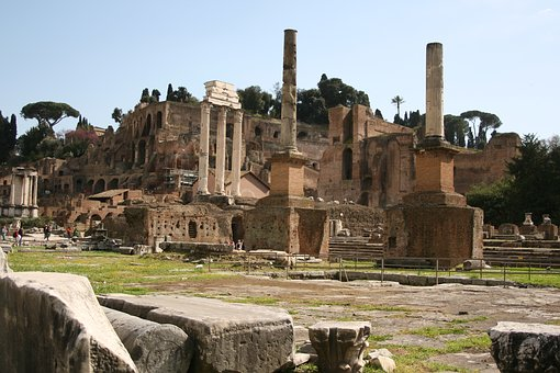 Foro Romano, Rome, Italy, Old, Architecture, Antiquity