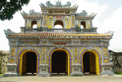 Viet Nam, Booed, Rampart, Citadel, Door, Arches