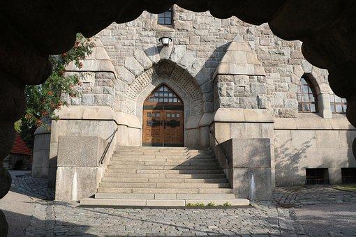 Architecture, Port, Door, Art Nouveau, Closed, Church
