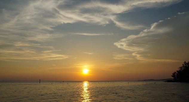Sea, Beach, Sunset, Horizon, Tranquil, Phu Quoc