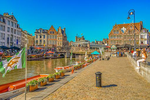 Ghent, Belgium, Promenade, Architecture, Travel, City