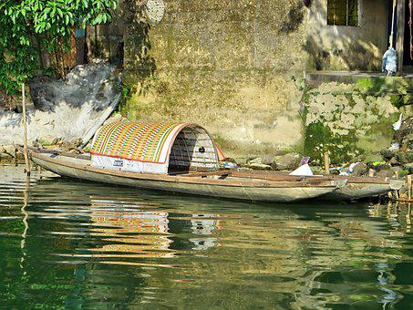 Viet Nam, Boat, Reflections, Serenity, Boats