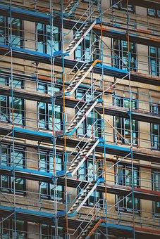 Scaffolding, Site, Scaffold, Building, Build
