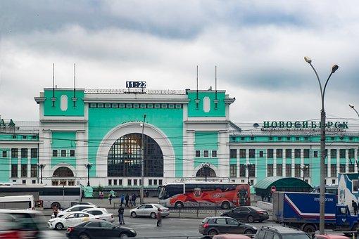 Station, Novosibirsk, Building, Station Square