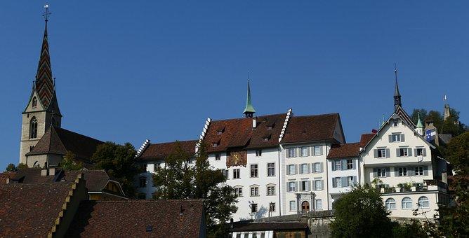 Architecture, Historically, City, Swim, Switzerland