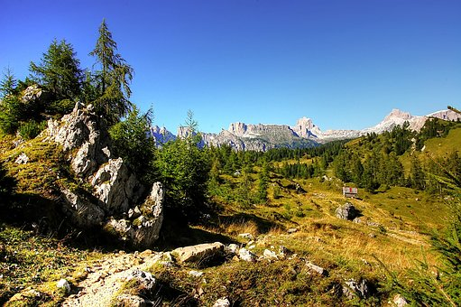 Civetta, Pelmo, Dolomites, Alpine, Italy, Rock