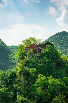 Cabin, The Wild, Cliff, Leisure, Life, Qing Town