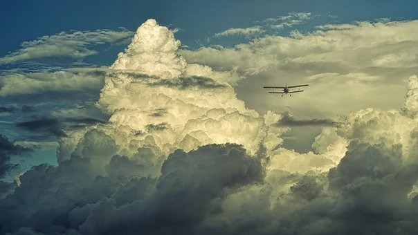 Clouds, Cloud Formation, Aircraft, Double Decker