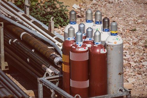 Compressed Air Bottle, Gas Bottle, Site