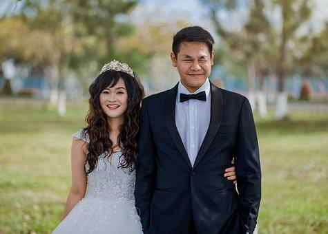 Wedding, Cute, People, Love, Couple, Romantic, Girl