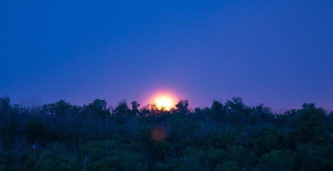 Good Night, Evening, Sunset, Night, Sky, In The Evening