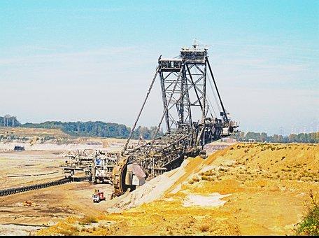 Excavators, Rwe, Rheinbraun, Inden, Carbon
