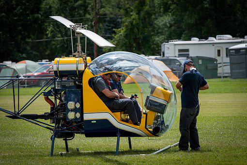 Helicopter, Aviation, Experimental, Flying