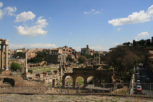 Foro Romano, Rome, Italy, Old, Historically