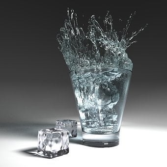 Water Glass, Glass, Water, Fresh, Reflections, Thirst