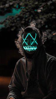 Purge, Light, Mask, Halloween, Dark, Head, Face, Human