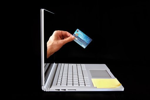 Online, Shopping, Credit, Card, Computer, Hand