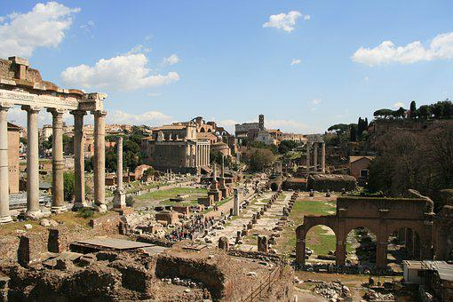 Foro Romano, Rome, Antiquity, Italy, Historically