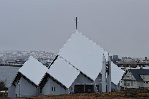 Iceland, Church, Nature, Outdoors, Landscape, Religion