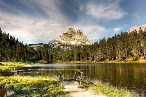 Lago Antorno, Dolomites, Landscape, Misurina, Alpine
