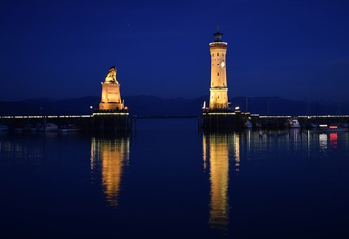 Lake Constance, Lindau, Water, Lake, Lighthouse