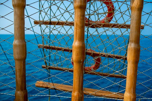 Ship, Mast, Ocean, Sea, Ship Deck, Sea View