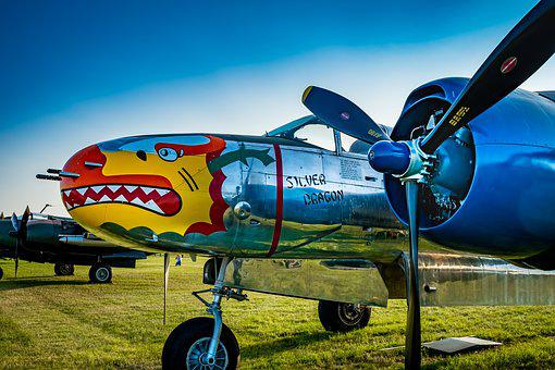 Bomber, Aircraft, Nose Art, Flying, Military, Airplane