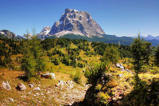 Pelmo, Dolomites, Alpine, Italy, Rock, Mountains