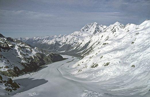 New Zealand, Franz-josef-glacier, Glacier, Mountains