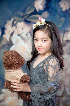 The Little Girl, Cute, Lively, Naive, Girls
