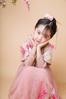 The Little Girl, Cute, Lively, Naive, Girls, Antiquity