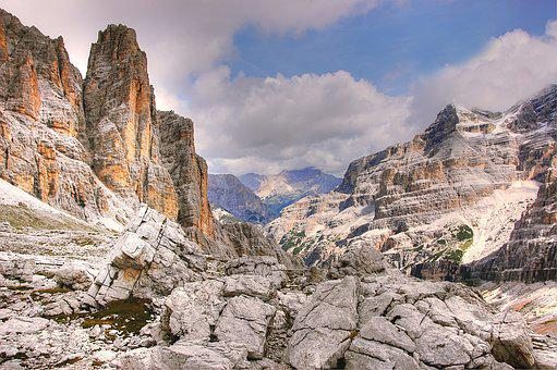 Travenanzes, Dolomites, Tofane, Alm, Nature, Blue