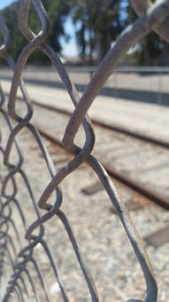 Fence, Railroad, Old, Closed, Background